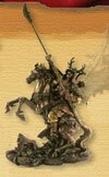 Figurka Samuraj na koniu z naginatą (PL-420)
