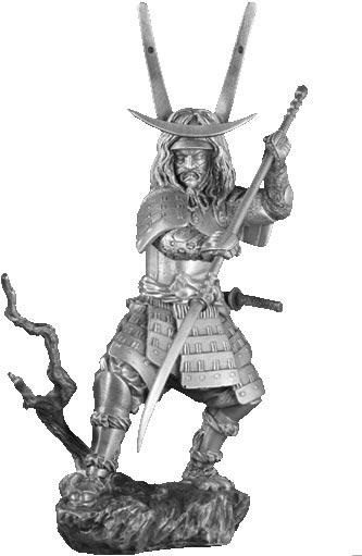Figurka Samuraj z Naginatą - Les Etains Du Graal