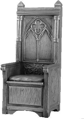 Figurka Tron Króla Artura - Rycerze Okrągłego Stołu - Les Etains Du Graal