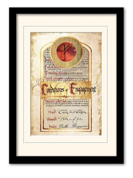 Hobbit  - Kontrakt Bilbo Bagginsa w ramce