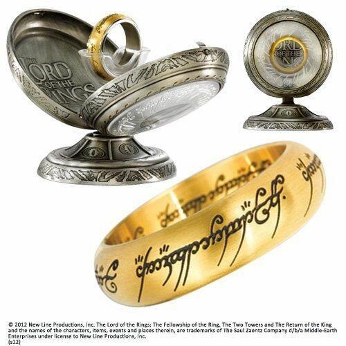 Jedyny Pierścień z filmu Władca Pierścieni - One Ring Stainless Steel - Gold colour
