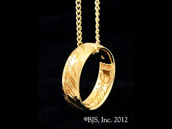 Jedyny pierścień LOTR Gollum Gold Necklace Red