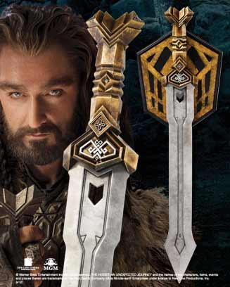 Krasnoludzki miecz Thorina z filmu Hobbit - Thorin`s Dwarven Sword Replica