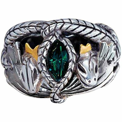 LOTR Srebrny Pierścień Aragorna z filmu Władca Pierścieni