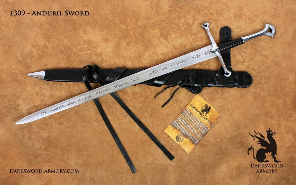 Miecz kuty The Anduril z filmu Władca Pierścieni