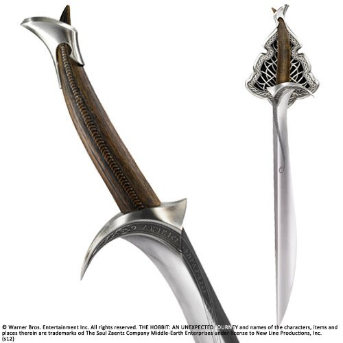 Miecz z filmu Hobbit - Sword of Thorin Oakenshield Orcrist Noble Collection