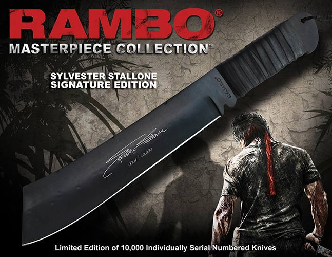 Nóż Rambo IV John Rambo Signature Edition Hollywood Collectibles Group