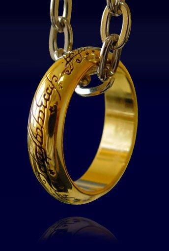 Pierścień z filmu Władca Pierścieni LOTR Ring The One Ring (pozłacany)