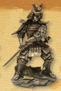Samuraj sięgający po katanę