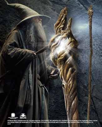 Świecący Kostur Gandalfa Szarego z filmu Hobbit - Hobbit Gandalf Illuminating Staff