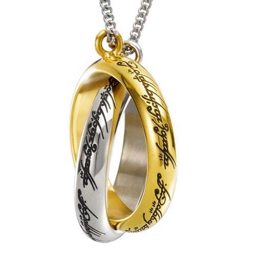 Wisiorek z motywem pierścienia z filmu Władca Pierścieni