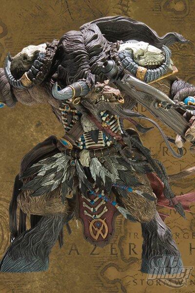 World Of Warcraft, Series 3: Tauren Hunter: Brave Highmountain Deluxe Collector Figure
