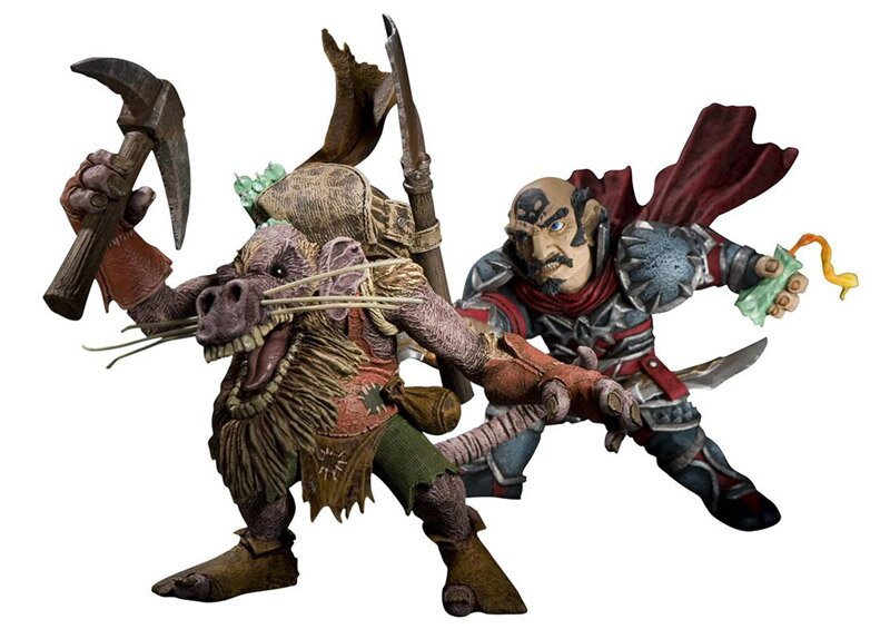 World of Warcraft Series 8 Action Figure Gnome Rogue vs Kobold Miner